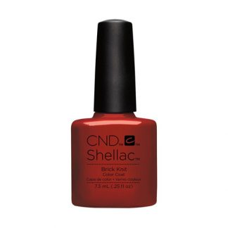 CND SHELLAC-BRICK KNIT